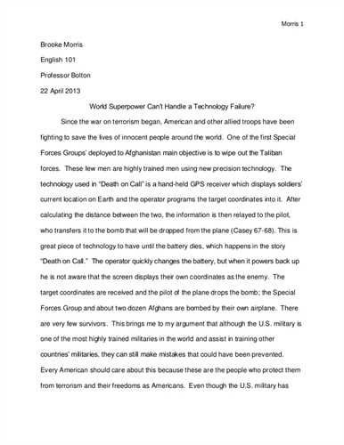 how to write a english paper