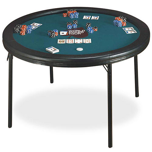 Folding poker card table gambling and alcohol help